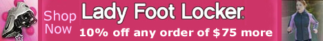 Get 10% off any order of $50 more at Ladyfootlocker.com