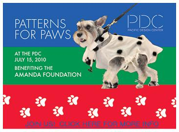 Patterns for Paws benefitting the Amanda Foundation