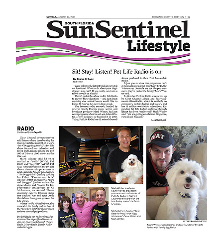 Pet Life Radio in Sun Sentinel