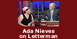 Ada Nieves on Late Night with David Letterman
