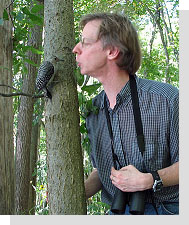 Bob Tarte with woodpecker